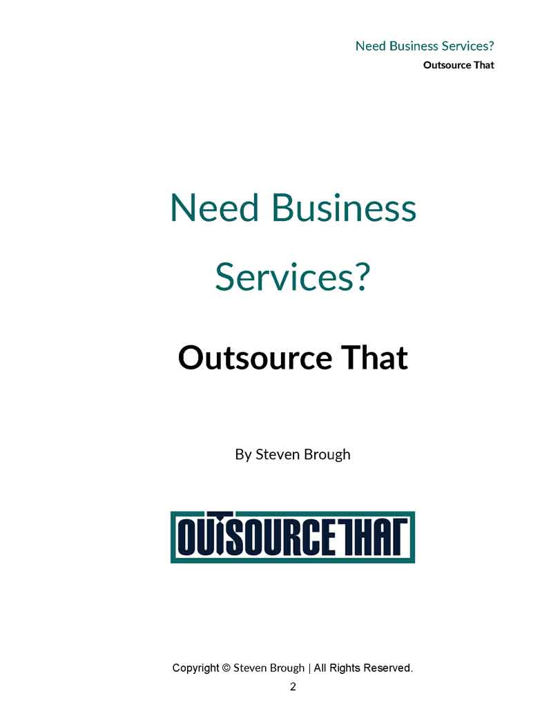 Outsourcing research paper