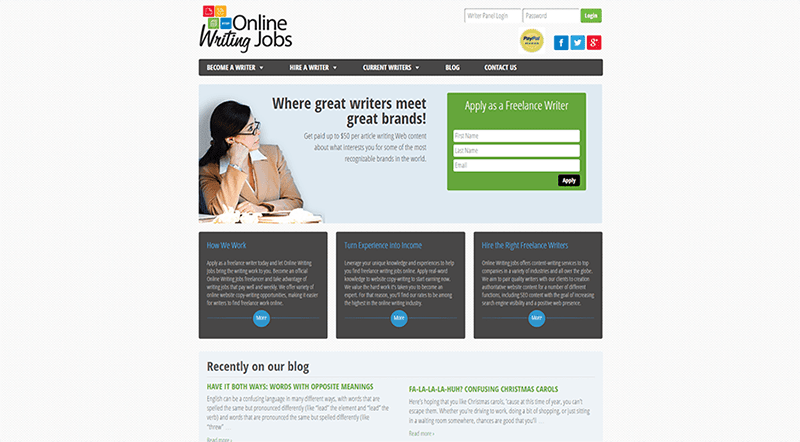 Vote for Onlinewritingjobs com Online Service - Outsource That